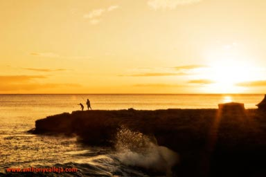 Hawaii Sunset Photography Sunset at Black Rocks, Waianae Coast, Oahu