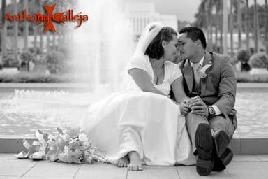Oahu wedding photography - Laie wedding photographed at the Laie LDS Temple, Oahu Hawaii