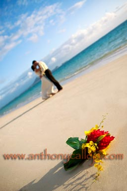 Honolulu Sunrise Beach Wedding at Lanika Beach Kailua Oahu Hawaii