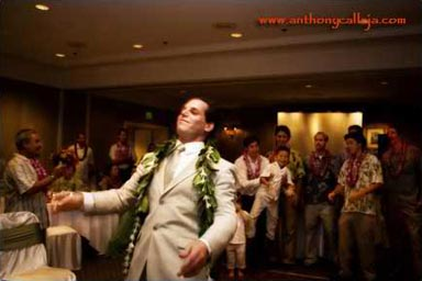 Garder toss at Kapolei Wedding Reception