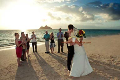 Sunrise Wedding at Lanikai Hawaii