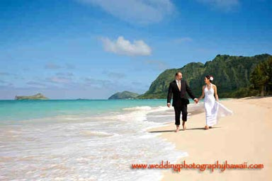 Oahu Wedding Portrait Waimanalo Beach Oahu Hawaii