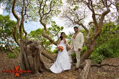 Wedding Portrait Photography Waimanalo Beach Oahu Hawaii