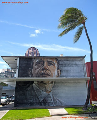 President Obama Mural - Honolulu Graffiti Art