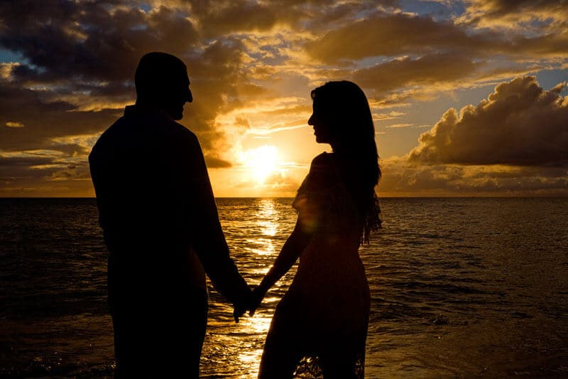 Sunset Couple Photography - Papailoa Beach, Oahu, Hawaii
