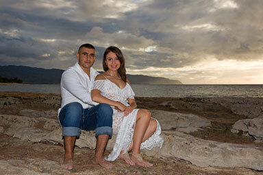 Papailoa Beach Engagement Portrait Photographer, North Shore, Oahu, Hawaii