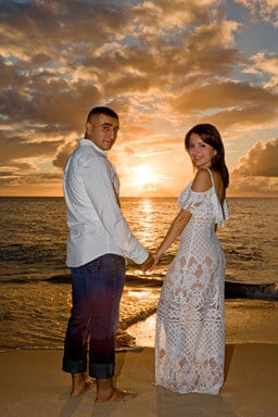 Papailoa Beach Engagement Portrait Photography, North Shore, Oahu, Hawaii