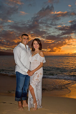 Papailoa Beach Sunset Couples Portraits, North Shore, Oahu, Hawaii