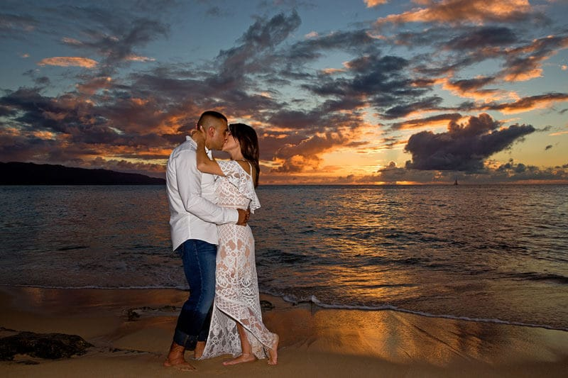 Engagement Portrait Photography, Papailoa Beach , North Shore, Oahu, Hawaii
