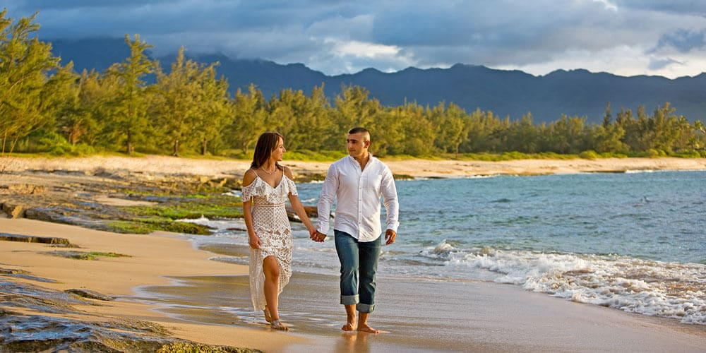 North Shore Engagement Photography - Papailoa Beach, Oahu