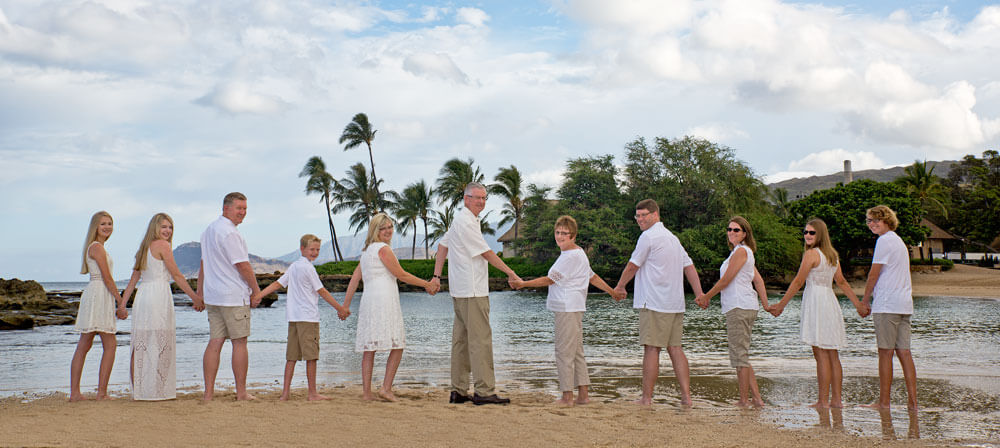 Oahu Family Photo Paradise Cove Beach Koolina