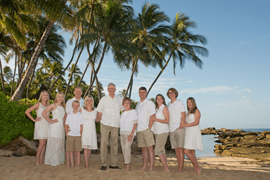 Paradise Cove Beach Family Portrait Photography