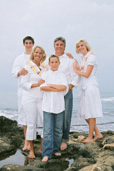 Koolina Family Portrait Photographer at secret beach Oahu Hawaii
