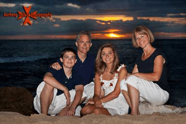Koolina Vacation Photographers Sunset Oahu Family vacation Portrait at Secret beach at the Ko'Olina Resort, Oahu Hawaii