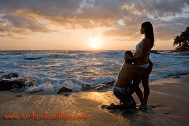 hands making a heart on the belly, Kapolei Maternity Photography, secret beach
