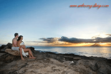 Koolina Maternity Photography, secret beach, Oahu Hawaii