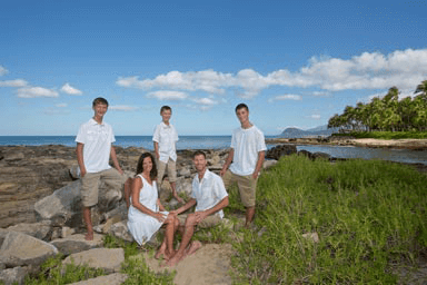 Koolina Family Portrait Photography at secret beach Oahu Hawaii