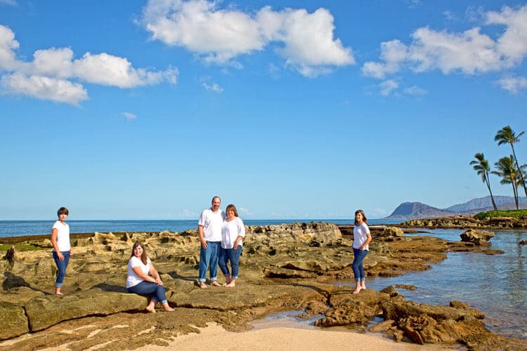 Oahu Family Portrait - Paradise Cove Beach, Koolina Resort, Oahu