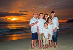 Professional Hawaii Photographer Anthony Calleja is an affordable Family Portrait Photographers on Oahu offering sunrise family portrait session at Waimanalo beach Oahu Hawaii