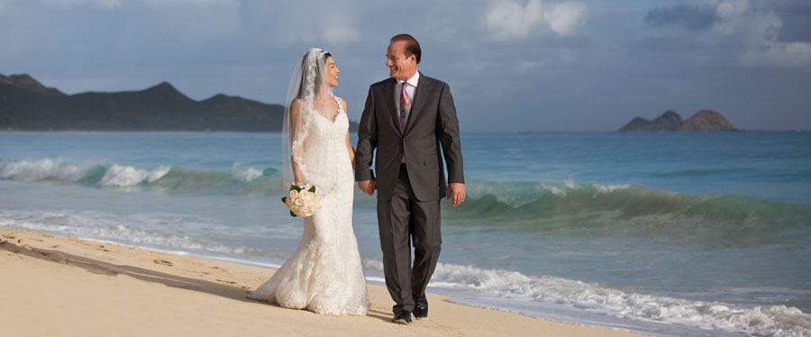 Waimanalo Wedding Portrait Photography - Waimanalo Beach , Oahu, Hawaii