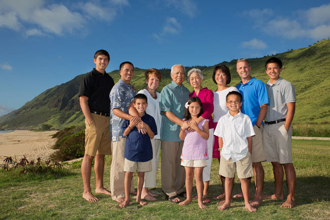 Yokahama Beach Family Portrait Oahu Hawaii